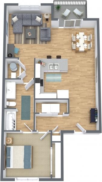 1 Bedroom   1 Bathroom 785. Lloyd Companies   Apartments   Thelin Center